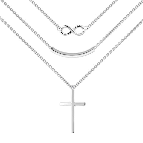 Infinity Curved Bar Pendant