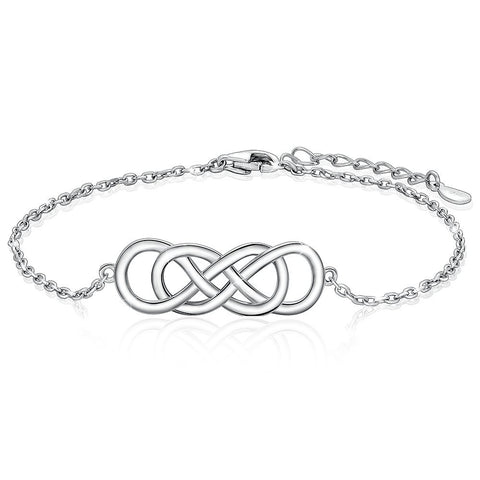 Infinity White Gold Plated Celtic Knot