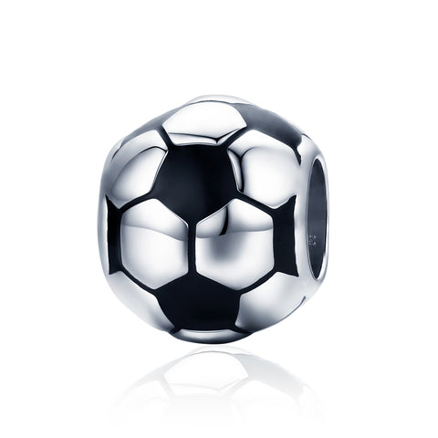 silver white gold plated Epoxy football Charms