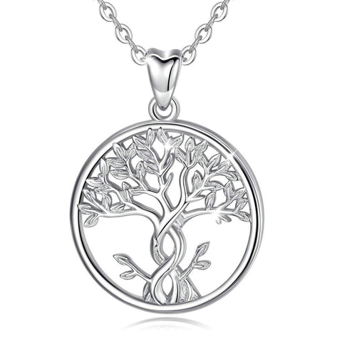 S925 Sterling Silver CZ Family Tree of Life  Necklace for Women
