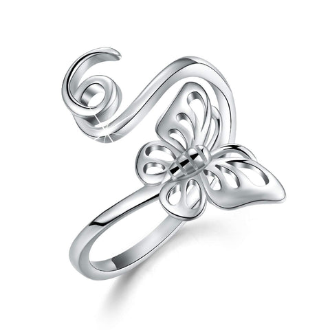 Hollow Carving Butterfly Adjustable Rings