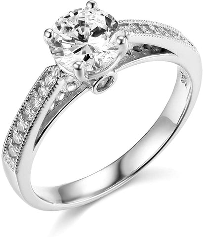 14k Yellow OR White Gold With Diamond Wedding Engagement Ring