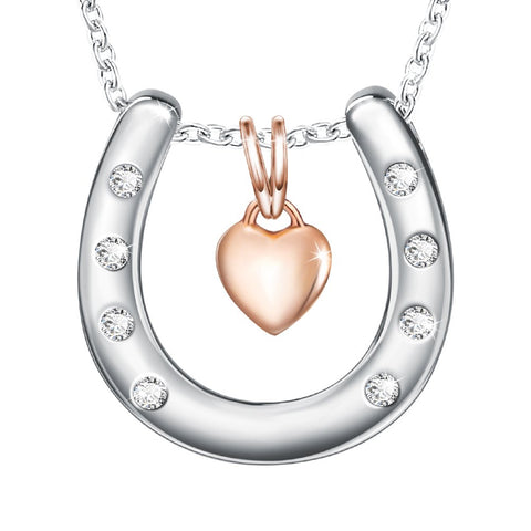 Rose Gold Charm Heart Pendant