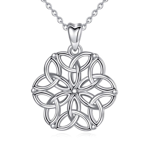 Sterling Silver Celtic Infinity Jewelry Celtic Knot Necklace for Women