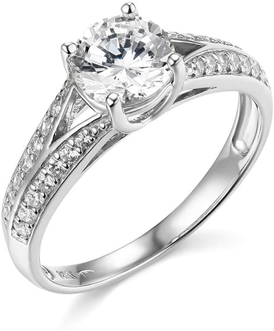 14k Yellow OR White Gold with Solitaire in Wedding Engagement Ring