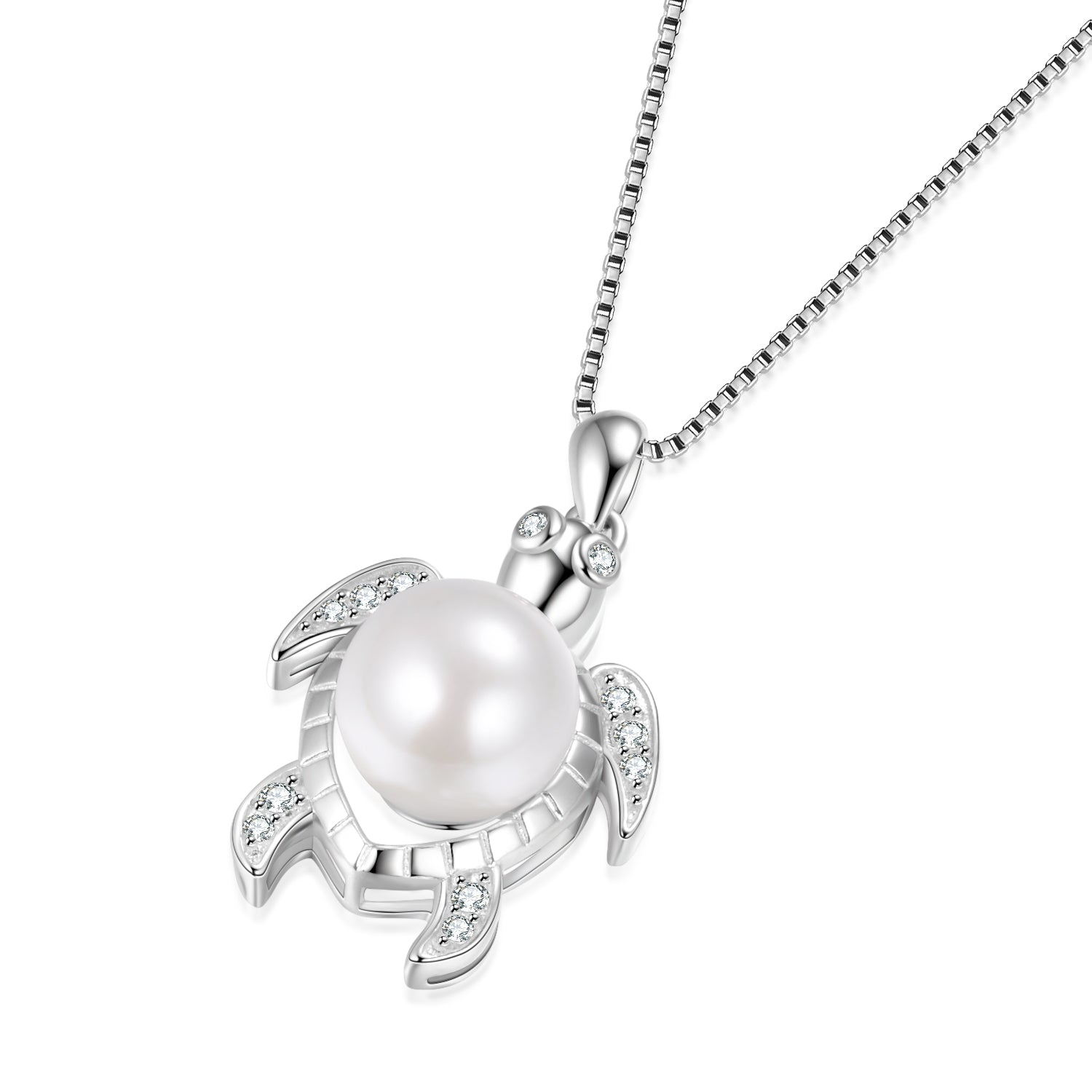 Turtle Necklace Ocean Animal High Quality Cubic Zirconia Silver Jewelry