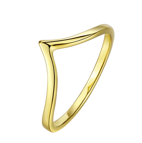 Triangle Silver Wire Rings Gold Color Line Rings Fashionable