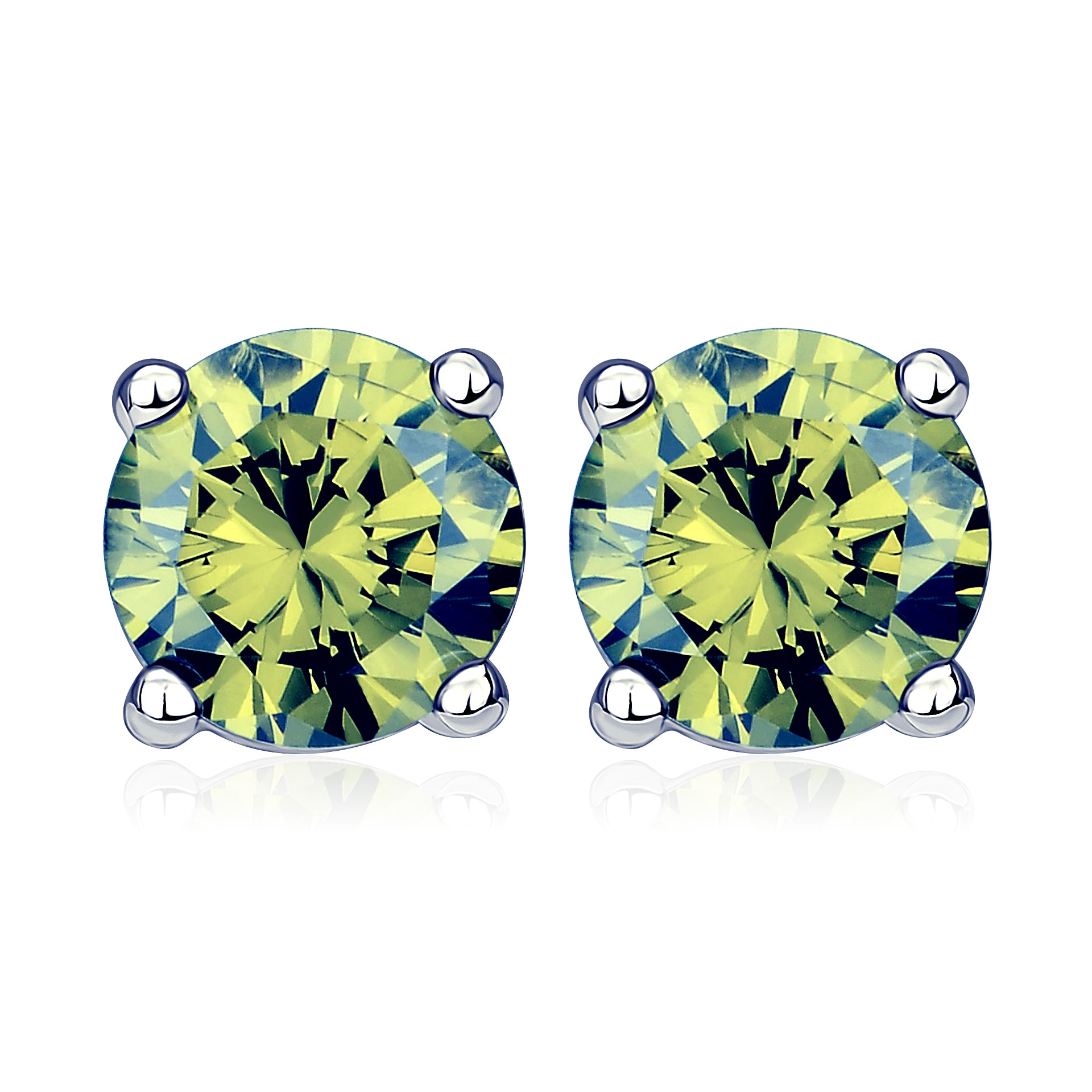 Big Crystal Stud Earrings Design Simple Cheap Popular Silver Earrings