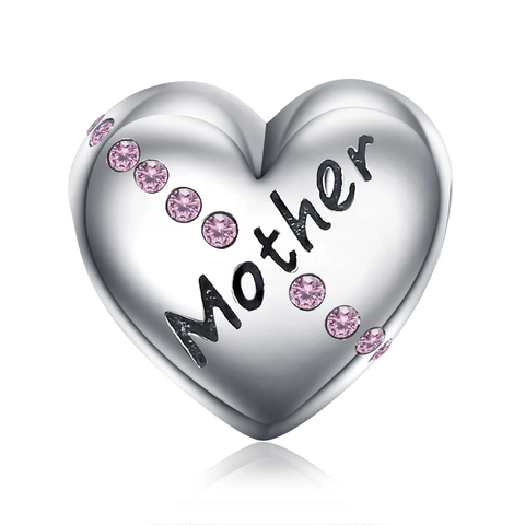 Heart Mother 925 Sterling Silver Beads Charms