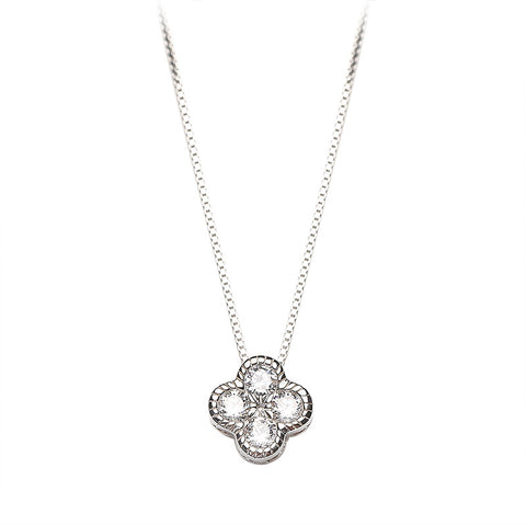 Clover Diamond Clavicle Chain
