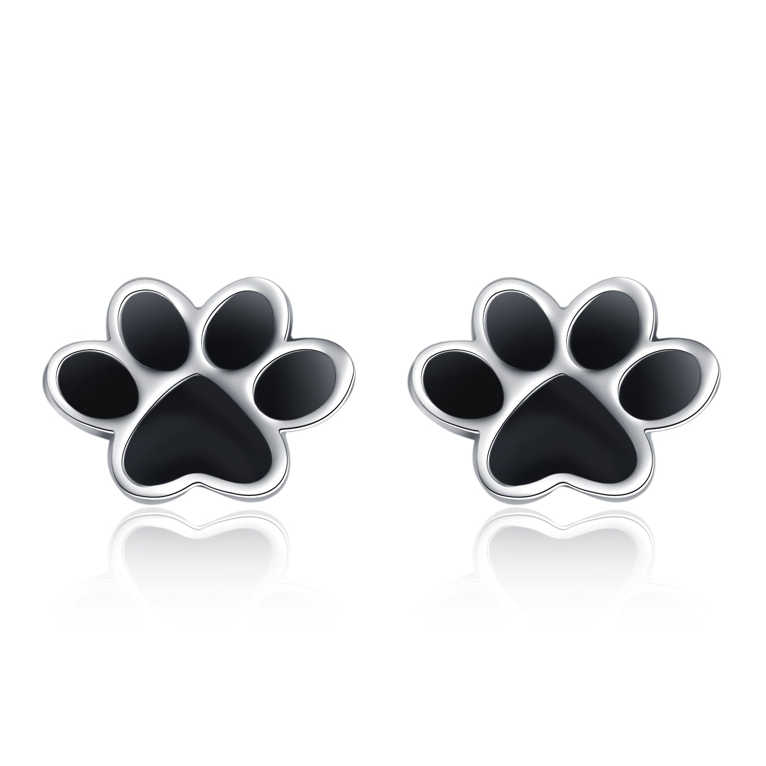 Dog Claw Earring Black Paw Silver Design Wholesale Best Quality
