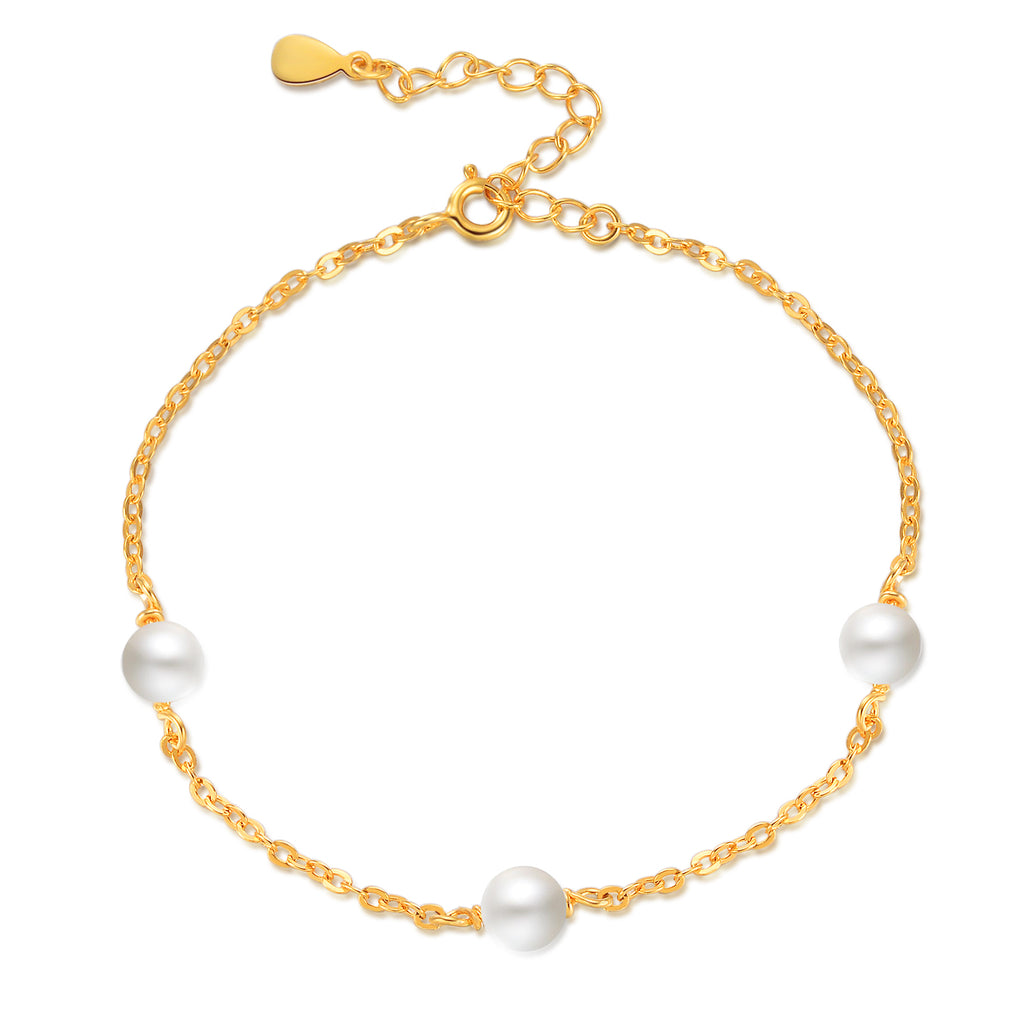 Pearl Bracelet Round Shape Pearl Jewelry Extension Chain Bracelet Design
