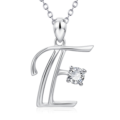 E Charms Jewelry Necklace Letter Necklace Alphabet Chinese
