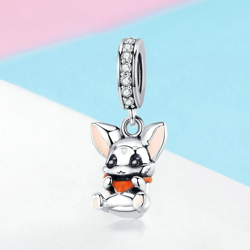 Silver Charms for Women Jewelry rabbit Animal Bunny Charms for Necklace Fit Original Charm Bracelet
