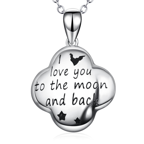 Message Words Letter Engraved Necklace Pendant Drop Design Necklaec
