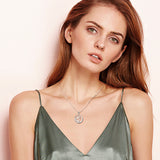 Special Designs Heart Zircon Wedding 925 Silver Necklace for Women