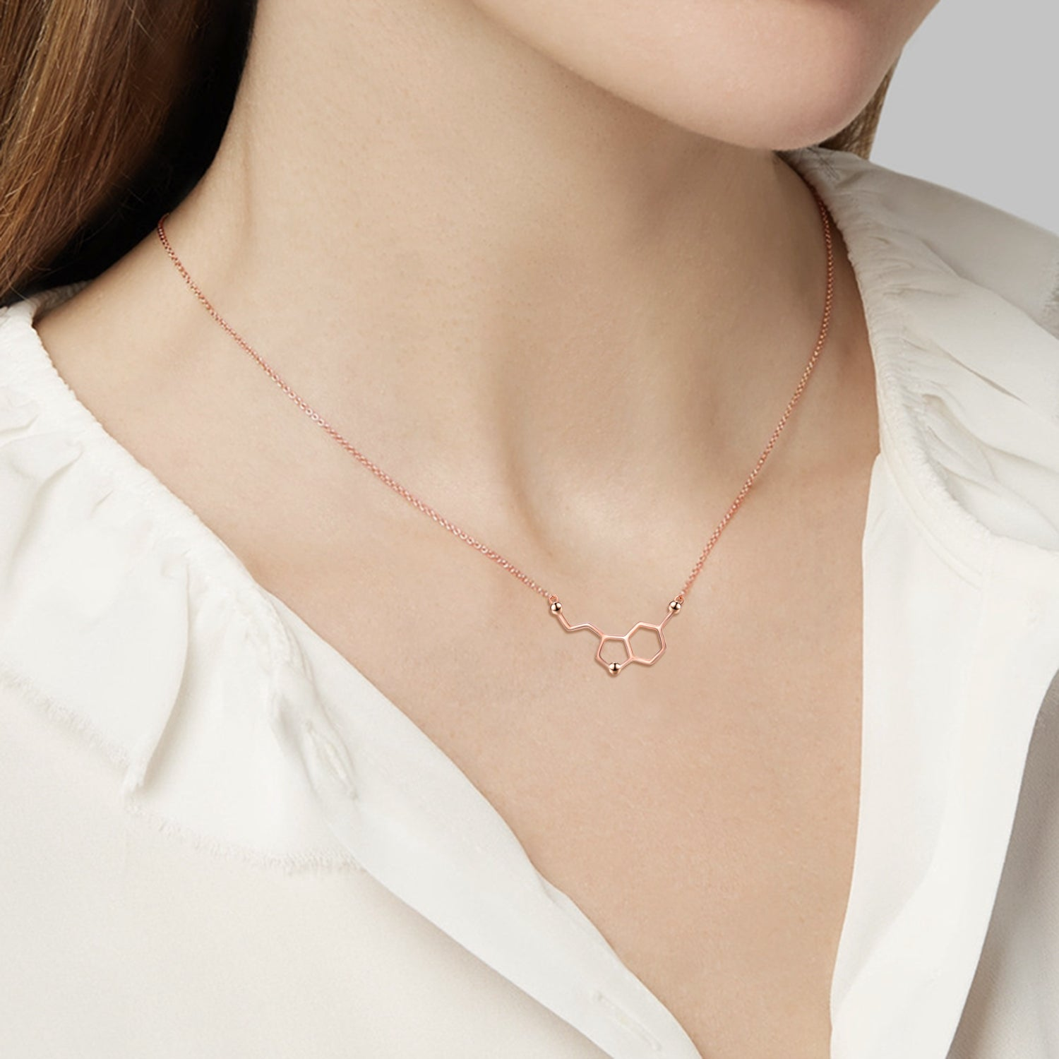 Rose Gold Plated 925 Silver Jewellery Fashion Custom Charm Necklace