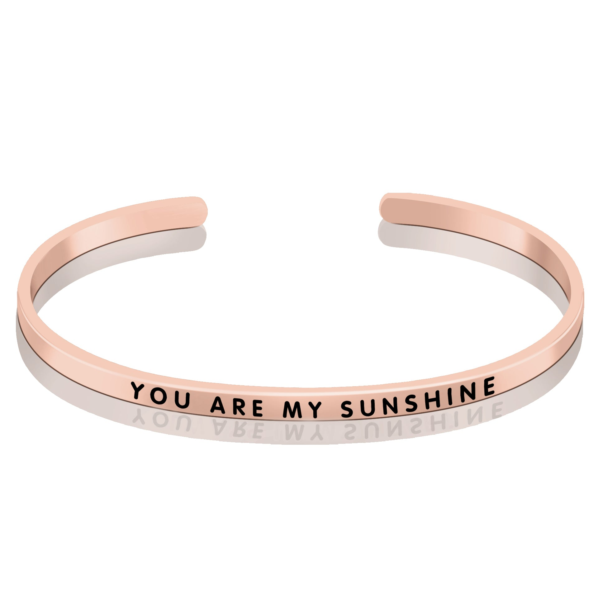 Boyfriend Bangle You Are My Sunshine Lover Gift Silver Bangle
