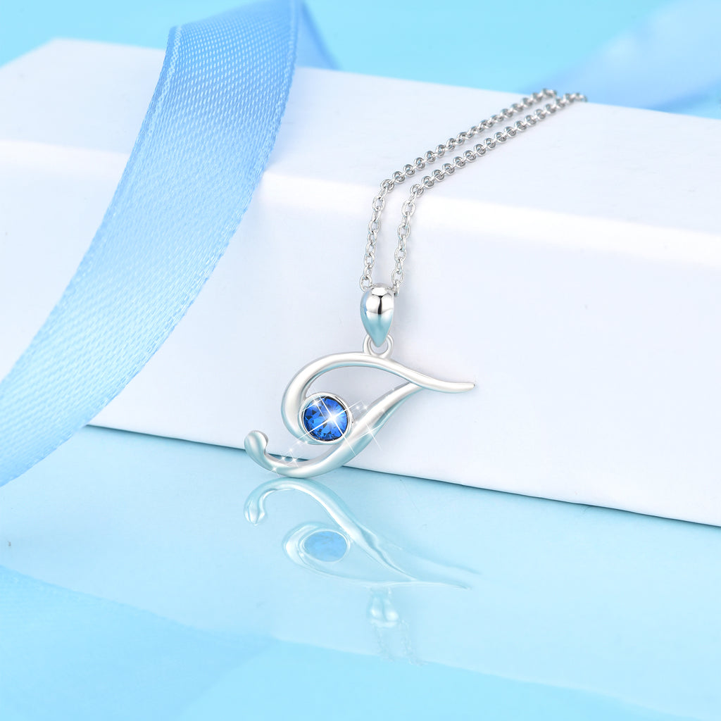 Wholesale Fashion Popular Silver Zircon Gemstone T Pendant Necklace for Ladies