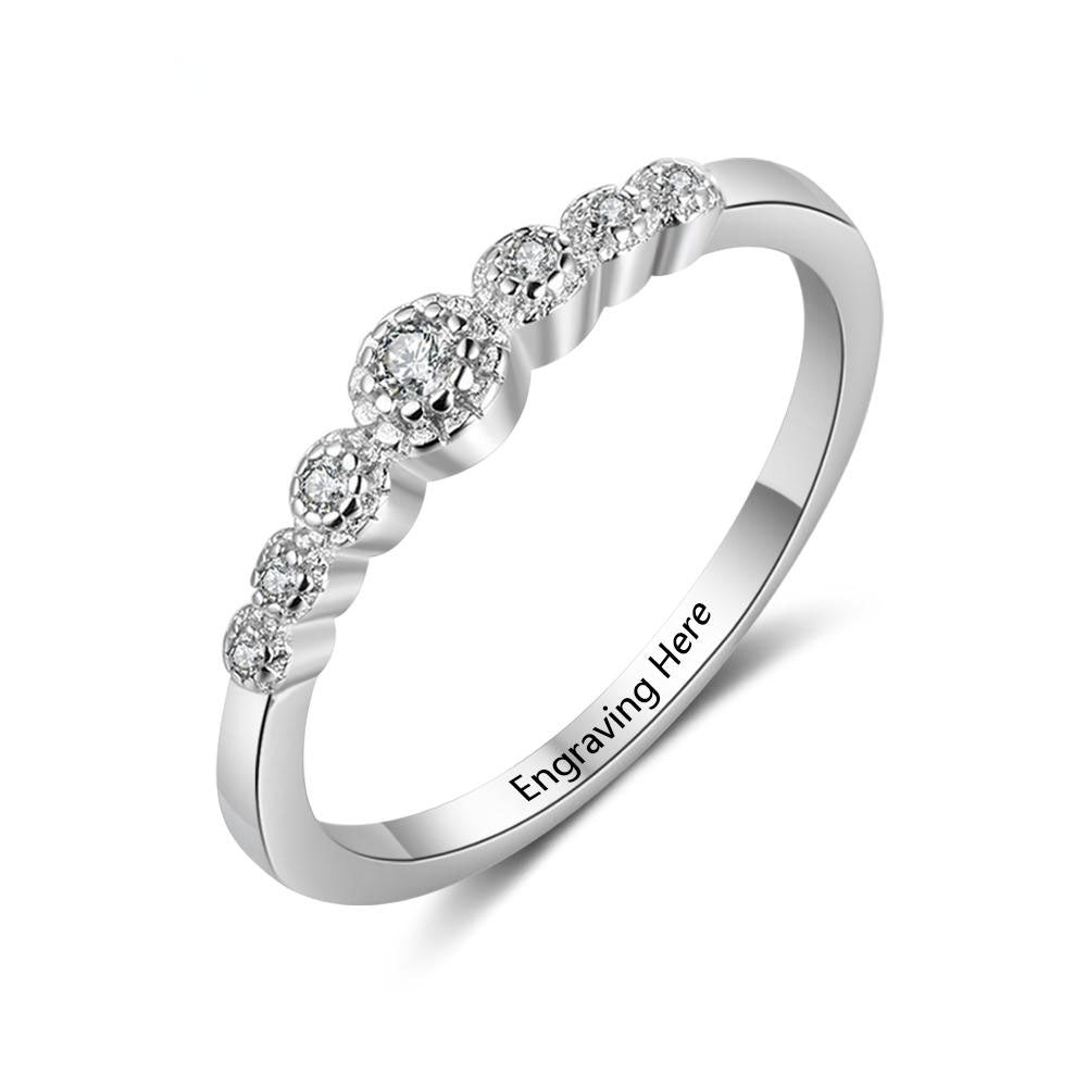 Wedding Accessorise Personalized Gift Engraved Name 925 Sterling Silver Rings For Women Anniversary Jewelry