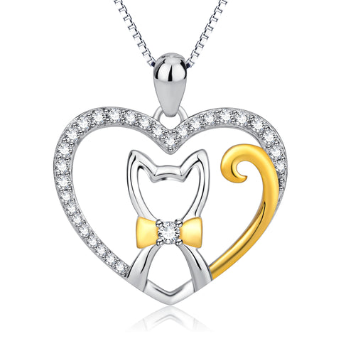 You Are the Only One in My Heart Necklace Cute Cat Lovely Tail Necklace