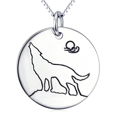 Animal Wolf Necklace Wholesale 925 Sterling Silver Gifts For Woman And Man
