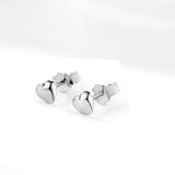 Wholesale Creative Loving Heart Cute Stud Earrings Silver Jewelry Design