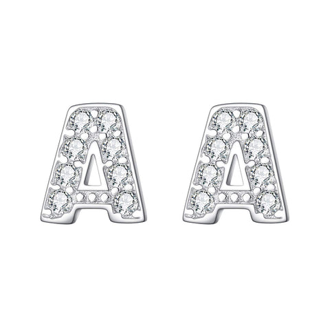 Initial Alphabet Letter Stud Earrings