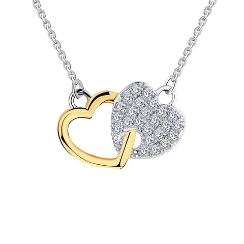14k  Gold 0.14ct Diamond Heart Pendant Necklace