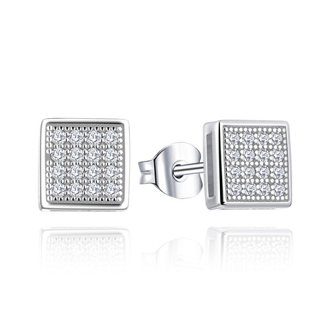 0.16CT Diamond Stud Earrings for Women in 14K White Gold