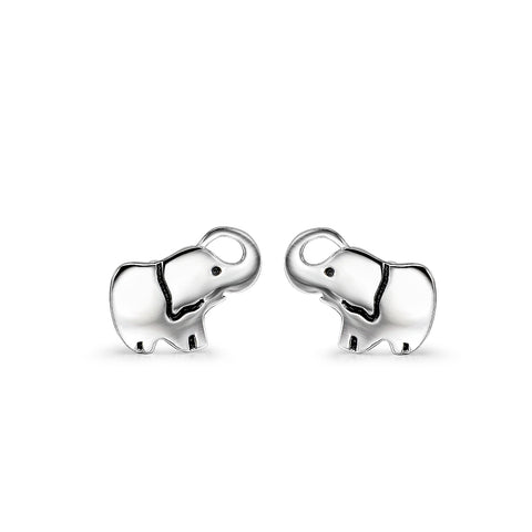 Luck Tiny Lovely Baby Elephant Stud Earrings Wholesaler Silver Jewelry