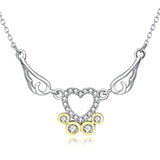 Wings Heart Necklace Wholesale Daughter Mother Sister Necklace
