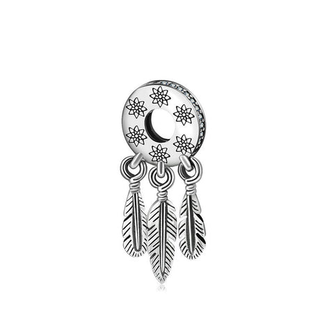 Dream catcher Beads Charm Feather Bracelet Beads Accessories Pendant Jewelry Accessories