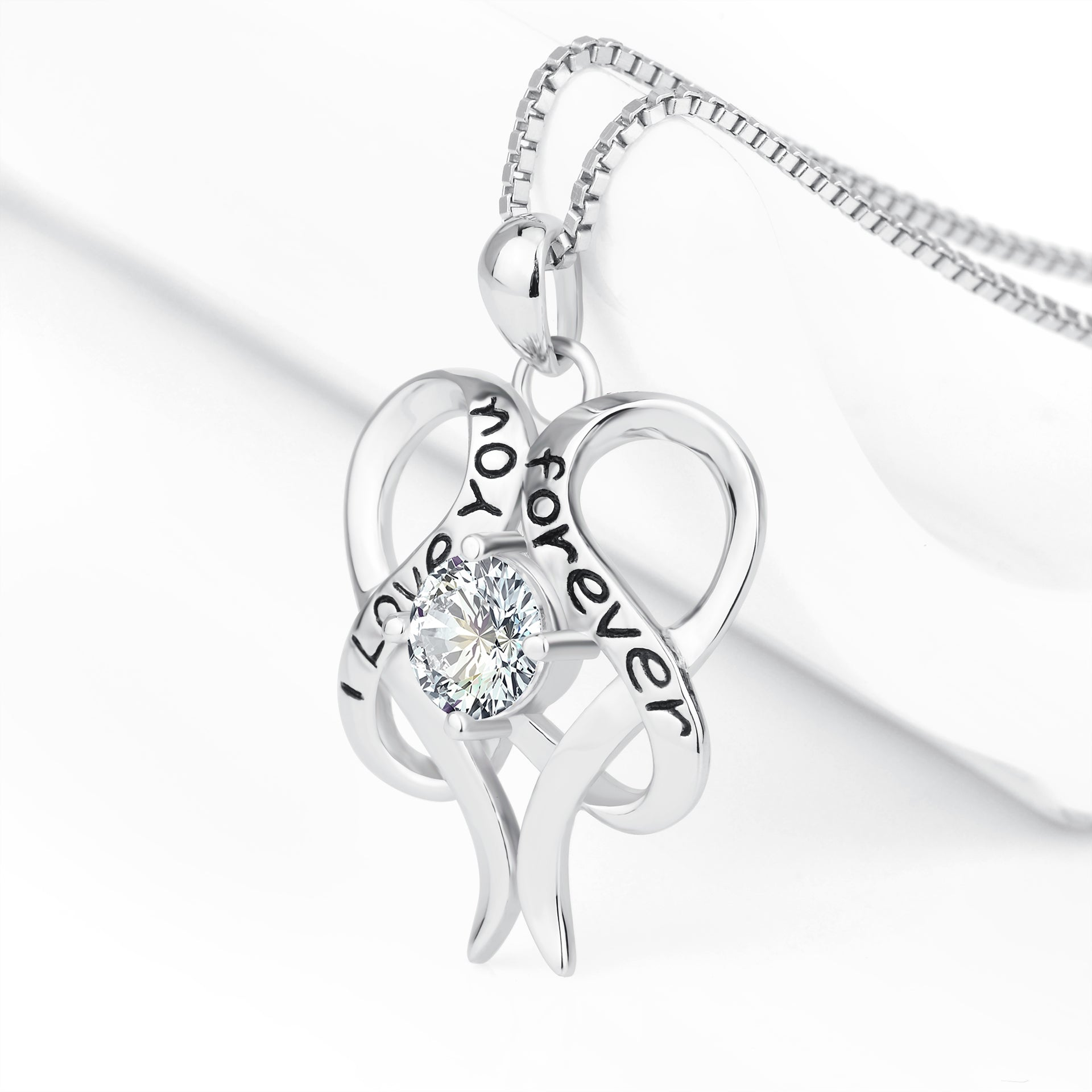 Mother Love You Forever Necklace Design Engraved Silver Jewelry Necklace