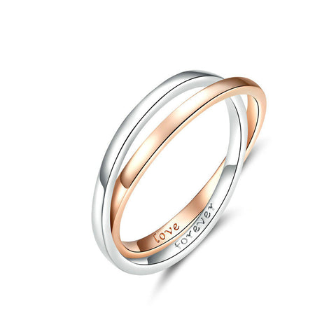 925 Sterling Silver Finger Rings Engagement Ring for Women and Men Rose Gold Color Jewelry