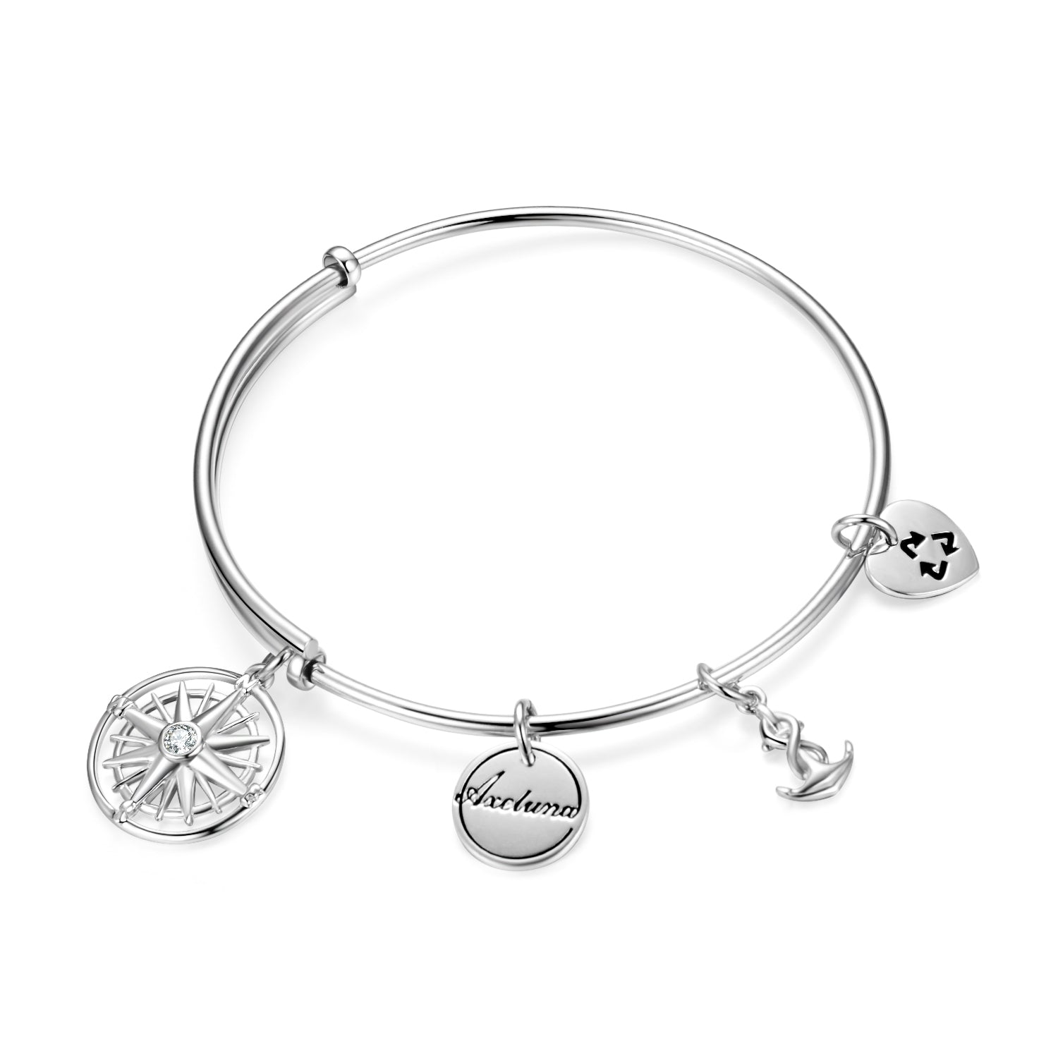 My Sallor Enjoy The Journey Bangle Many Round Disc Charms Bracelet