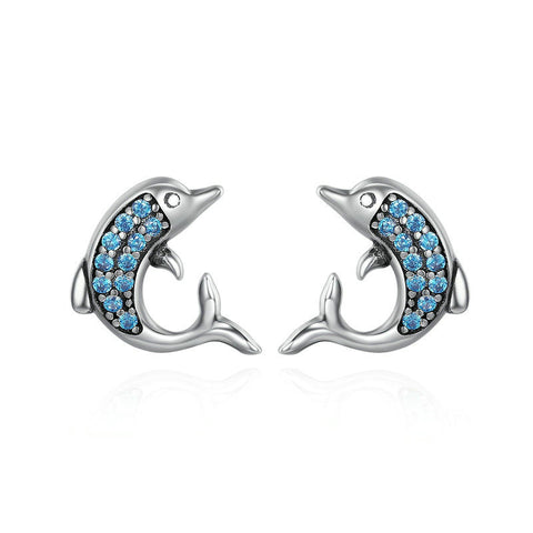 Exquisite Animal Dolphins Stud Earrings