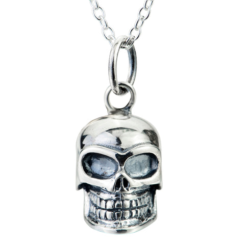 Skull Necklace Wholesale Man Halloween Festival Silver Necklace