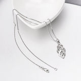 Custom 925 Sterling Silver Cubic Zirconia Necklace for Graduation