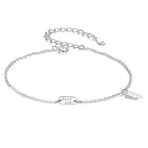 Good Luck Bracelet Wholesale 925 Sterling Silver Engraved Inspired Jewelry