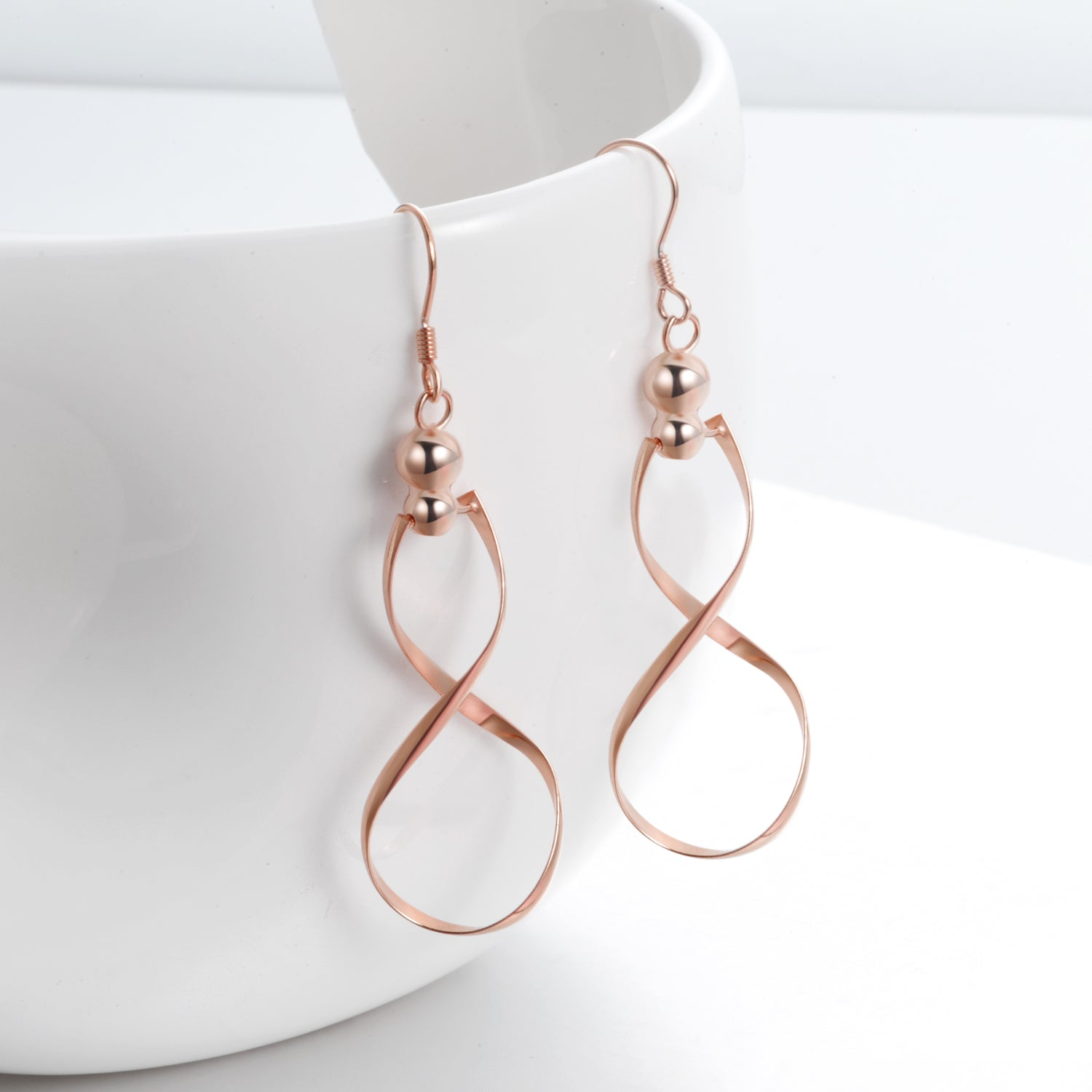 Infinity Earrings Best Selling Rose Golding Plating Small Moq Earrings