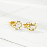 Women Wedding Wholesale Small Heart Loving Fine Earrings Gold Color Designs