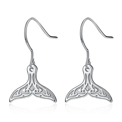 Dolphin Tail Shape Earrings Pendant Animal Jewelry Friend Gift Design