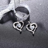 S925 Sterling Silver Fashion Personality Micro-Inlaid Love Earrings Jewelry Earrings Cross-Border Exclusive