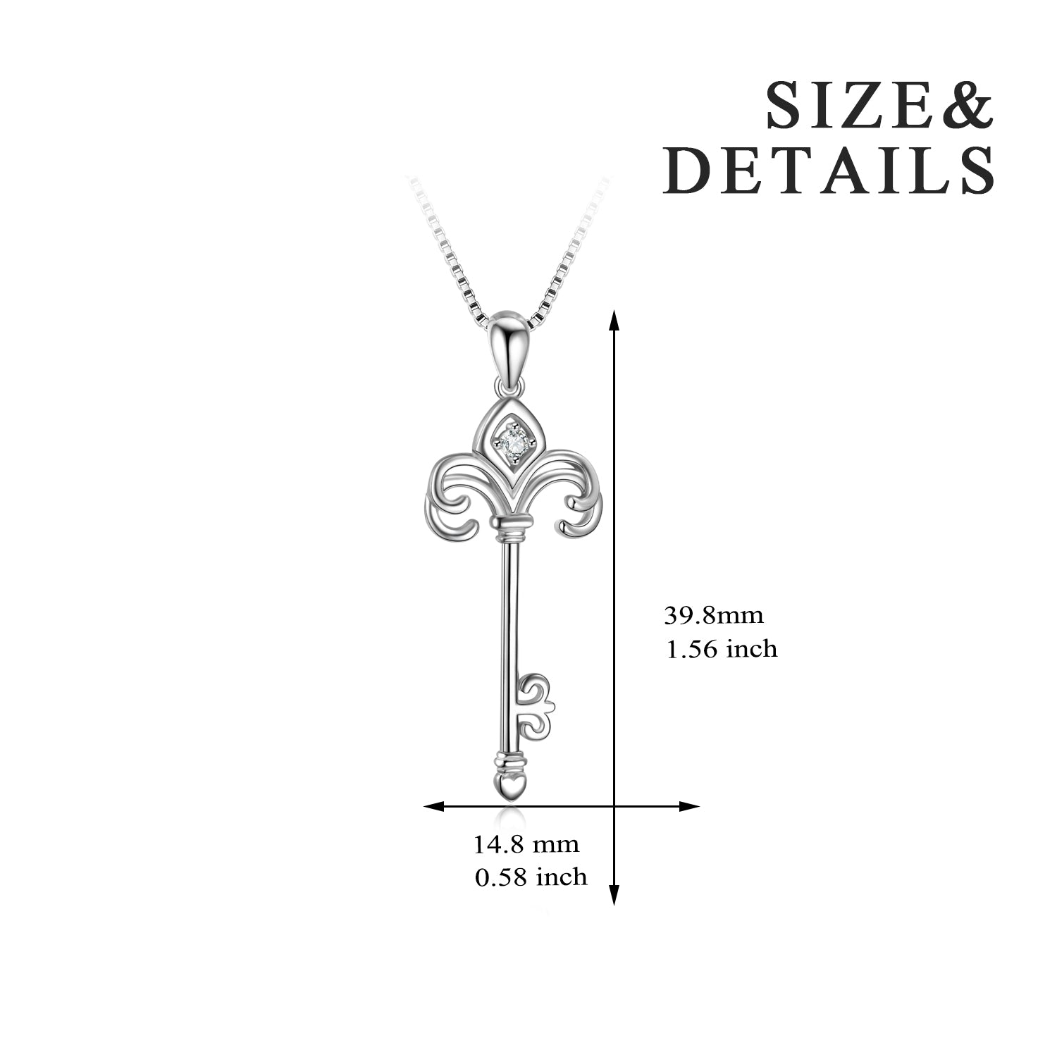 Key Necklace High Quality Cubic Zirconia Fashionable style Necklace