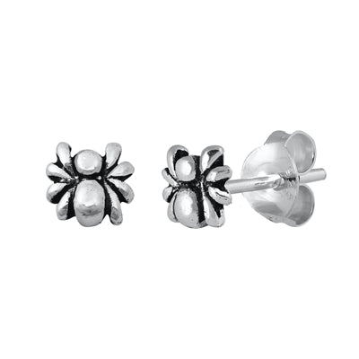 Silver Spider  Stud Earrings