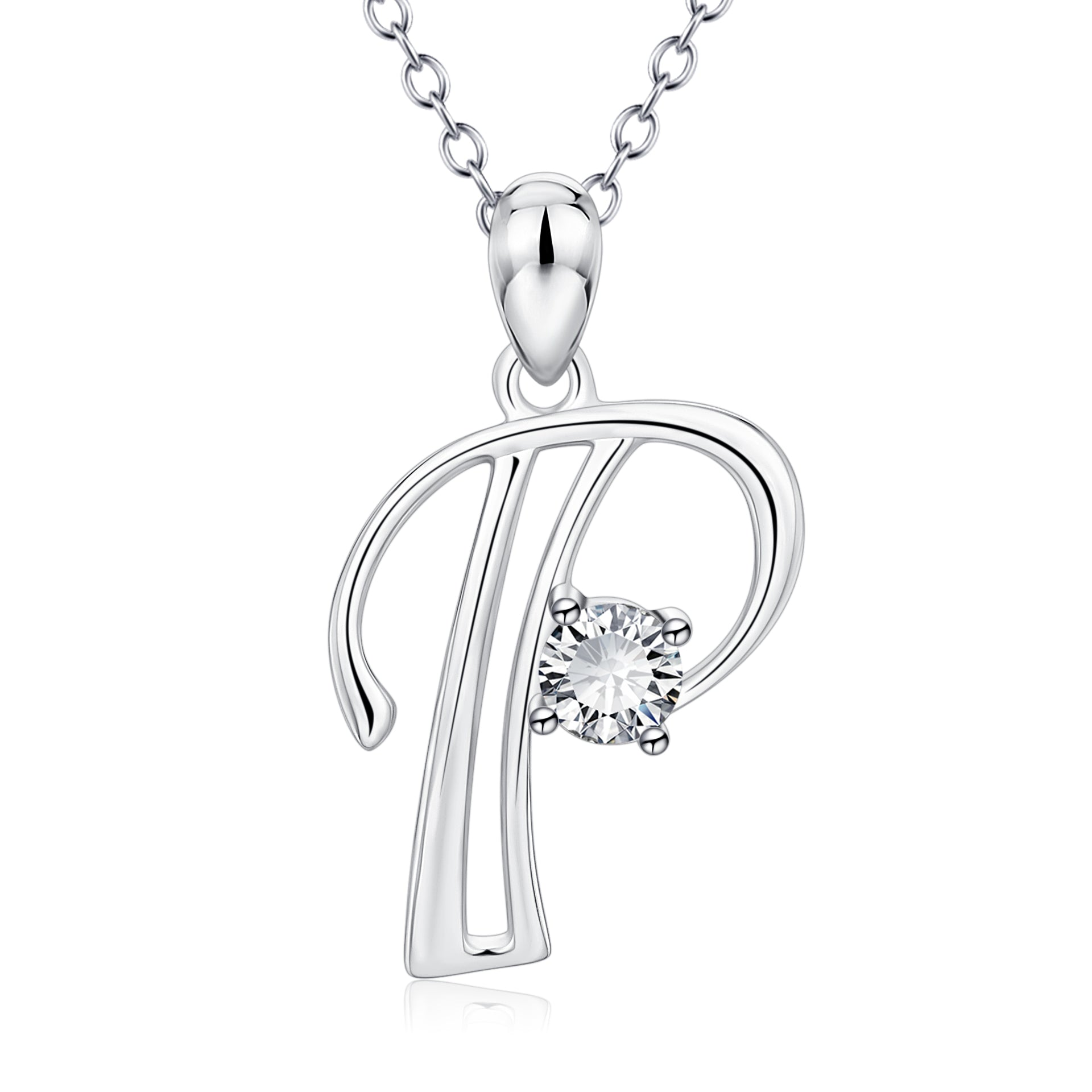 Wholesale Simple Alphabet Letter P Necklace Women Elegant Necklace