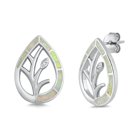 Opal Tree  Stud Earrings