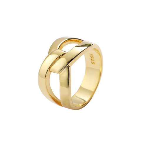 New Personality Accessories Fashion Exaggerated Gold Ring Female Models