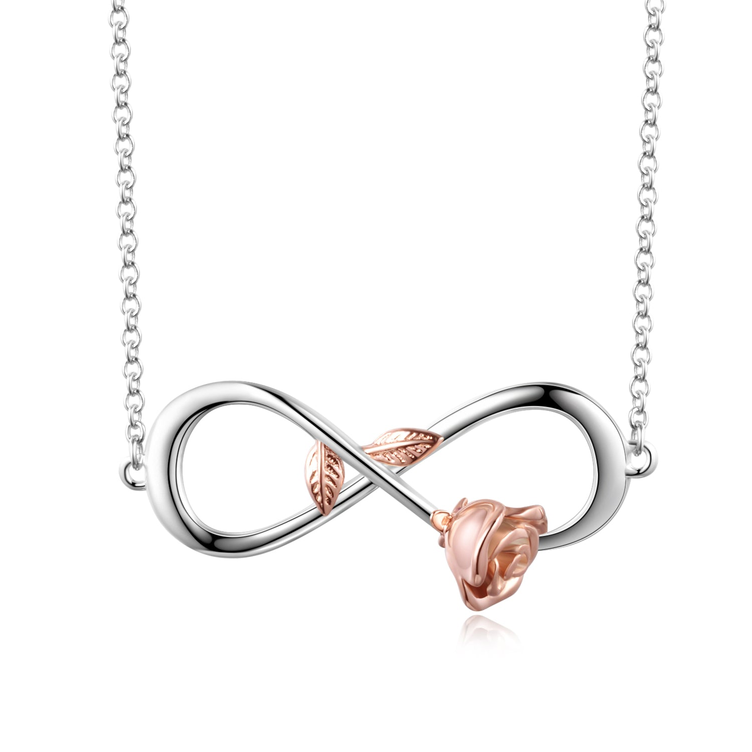 Rose Flower Necklace Number Eight Infinite Lover Girlfriend Necklace